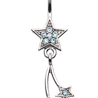 Sparkle Stars Belly Button Ring