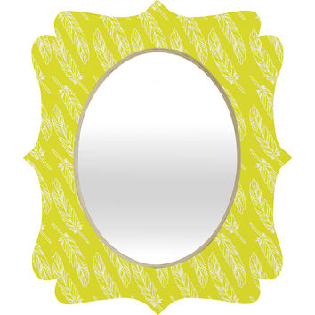 Allyson Johnson Neon Feathers Quatrefoil Mirror