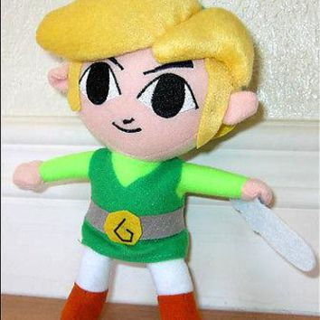 Nintendo Legend of Zelda Wind Waker Phantom Hourglass 7'' Plush Link Doll Figure