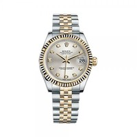 Rolex Lady-Datejust 31 178273 Gold & Stainless Steel Watch (Silver Set with Diamonds) | World's Best