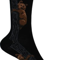 Climbing Bears Crew Socks in Black