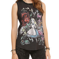 Disney Alice In Wonderland Flowers Girls Muscle Top