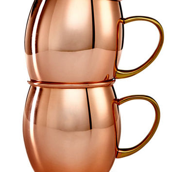 Martha Stewart Collection 2-Pc. Copper Moscow Mule Mug Set, Only at Macy's - Bar & Wine Accessories - Dining & Entertaining - Macy's
