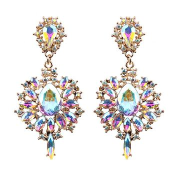 Alma- Drop Rhinestone Earrings