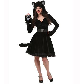 Hooded Kitty Costume