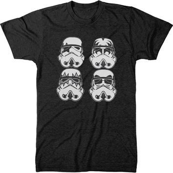 Star Wars Kiss Storm Troopers Mens Tri-blend T-shirt