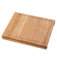 100% Natural Bamboo Cutting Board With Recessed Ridge