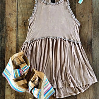 Pilcro Top - Taupe