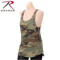 Womens Camo Racerback Tank Top