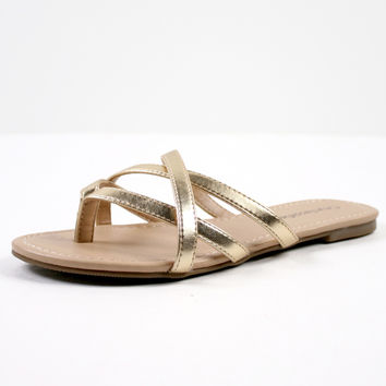 Golden Gleam Sandal
