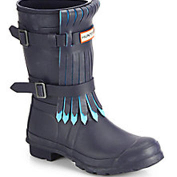 Hunter - Original Fringe Mid-Calf Rain Boots - Saks Fifth Avenue Mobile