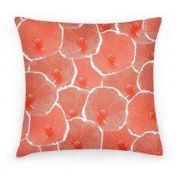 Red Poppy Flower Pattern
