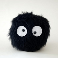 Spirited Away Susuwatari Felt Doll. Ghibli. 10 cm
