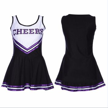 Girls Cheerleader Uniform School Girl Costume Feme Fancy Dress Costume costume cheerleader Sexy Costumes