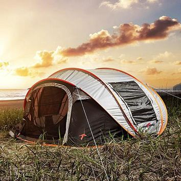 Super Automatic 6 Person Automatic Pop-Up Family Tent