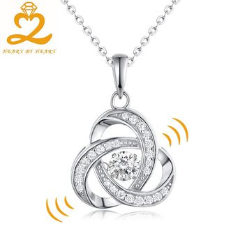 Cross 925 Sterling Silver Necklaces Dancing Gemstone Topaz Jewelry Pendant Necklace for Women