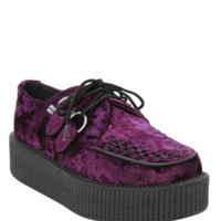 T.U.K. Purple Crushed Velvet Viva Mondo Creeper