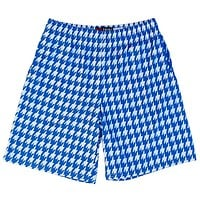 Royal and White Houndstooth Lacrosse Shorts