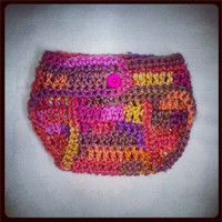 Melon Berry Baby Diaper Cover with Button Newborn-3 months Baby Shower Gift, Ready to Ship, Perfect Photo Prop