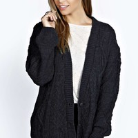 Carla Cable Knit Crop Cardigan