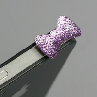 Amazon.com: Purple / Earphone jack accessory / Bow Dust Plug / Ear Cap / Ear Jack For iPhone / iPad / iPod Touch / 3.5mm (7232-5): Cell Phones & Accessories