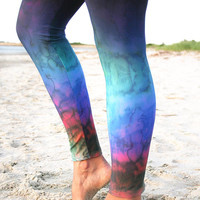 LEGGING - 'RAINBOW - Ombre Fade'  Style Legging for SURF,  Yoga, Running, Biking, sup, kitesurf, wakeboard