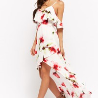 Floral Print High-Low Dress