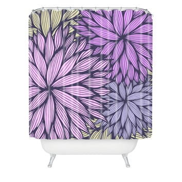 Gabi Purple Dahlia Shower Curtain