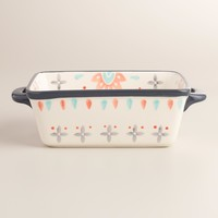 Joyye Hand Painted Ceramic Loaf Pan