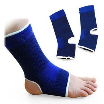 2Pcs Elastic Ankle Support Brace Compression Wrap Sleeve Sports Relief Pain Foot J2