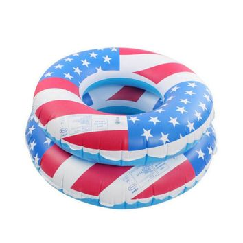 USA Flag Inflatable PVC Swimming Tubes