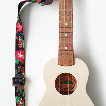 Ukulele Strap _ Red Hula Girl / Ready to ship / ukulele accessories