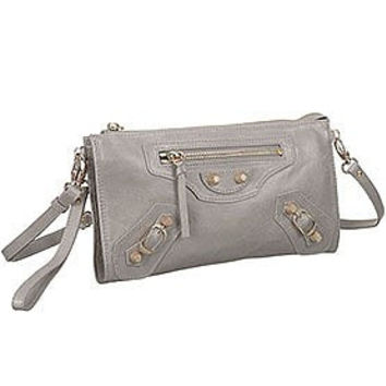 Balenciaga Clutch Argent Silver With Gold Hardware 607833