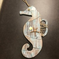 Wooden Woven Weathered Seahorse - Coastal Gifts & Decor