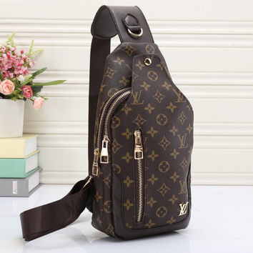 Louis Vuitton LV Women Leather Backpack Bookbag Daypack Satchel