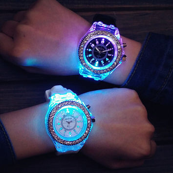 Unisex Light Up Watch Simple Style Watches Gift - 502