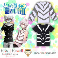 New Accelerator Toaru Majutsu no Index Cosplay Tshirt Anime Longsleeve and Shortsleeve Shirt Otaku KK602