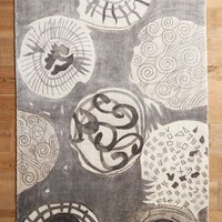 Ink Drawing Rug by Anthropologie