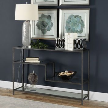 Uttermost Leo Industrial Console Table On SALE