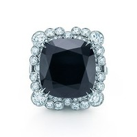Tiffany & Co. -  The Great Gatsby Collection ring of diamonds and an 8.20-carat black onyx.