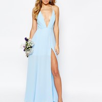 Fame and Partners Valentina Maxi Dress with Cut Out Back at asos.com