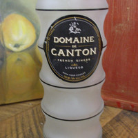 20 Ounce Pure Soy Candle in Reclaimed Domaine de Canton French Ginger Liqueur Bottle - Your Choice of Scent