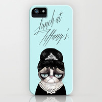 Lunch at Tiffany's.Grumpy Cat. 2 iPhone & iPod Case by stylishbunny