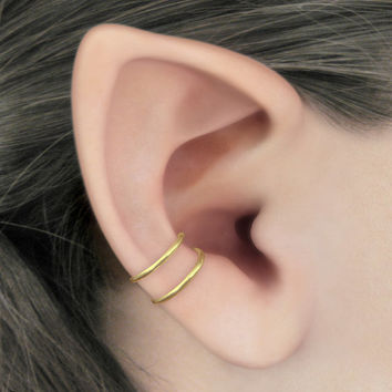 Duality - 14k Gold Filled Concha Double Band Ear Cuff