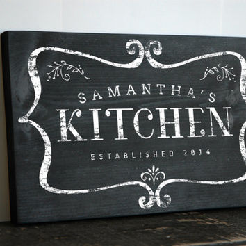 Custom Chalkboard Style Kitchen Sign From JetmakDesigns On Etsy Mesmerizing Decorative Kitchen Signs