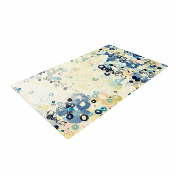 "Ebi Emporium ""And It's Up She Goes"" Blue Cream Woven Area Rug"