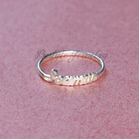 Personalize Presents - Fine Jewelry - Initial Name Ring - Unique Gift - Sterling Silver