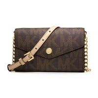 MICHAEL Michael Kors Logo-Print iPhone 5 Crossbody