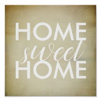 home sweet home quote poster typography design
