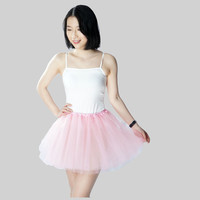Fashion trend lively solid color 3 Layers Tulle Skirt  womens Petticoat elastic waist tutu Skirts Summer women skirt jurken 2017
